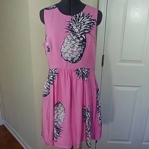 Crown & Ivy pink pineapple dress